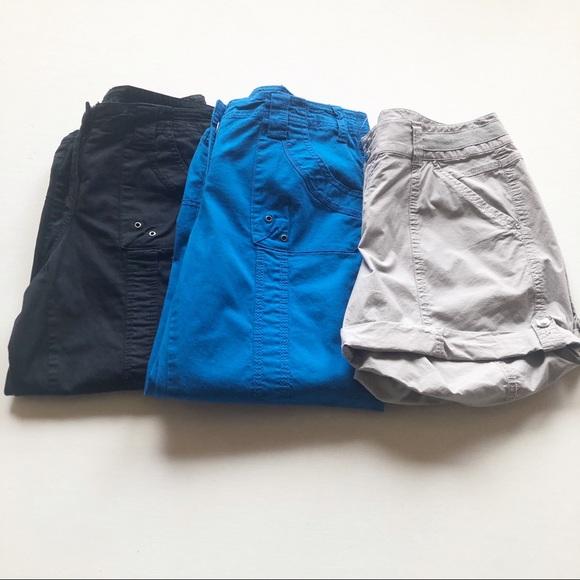 Womens Capri Bungee Cuff Hem Comfort Waist Cargo Capri Pants Coral Style /& Co